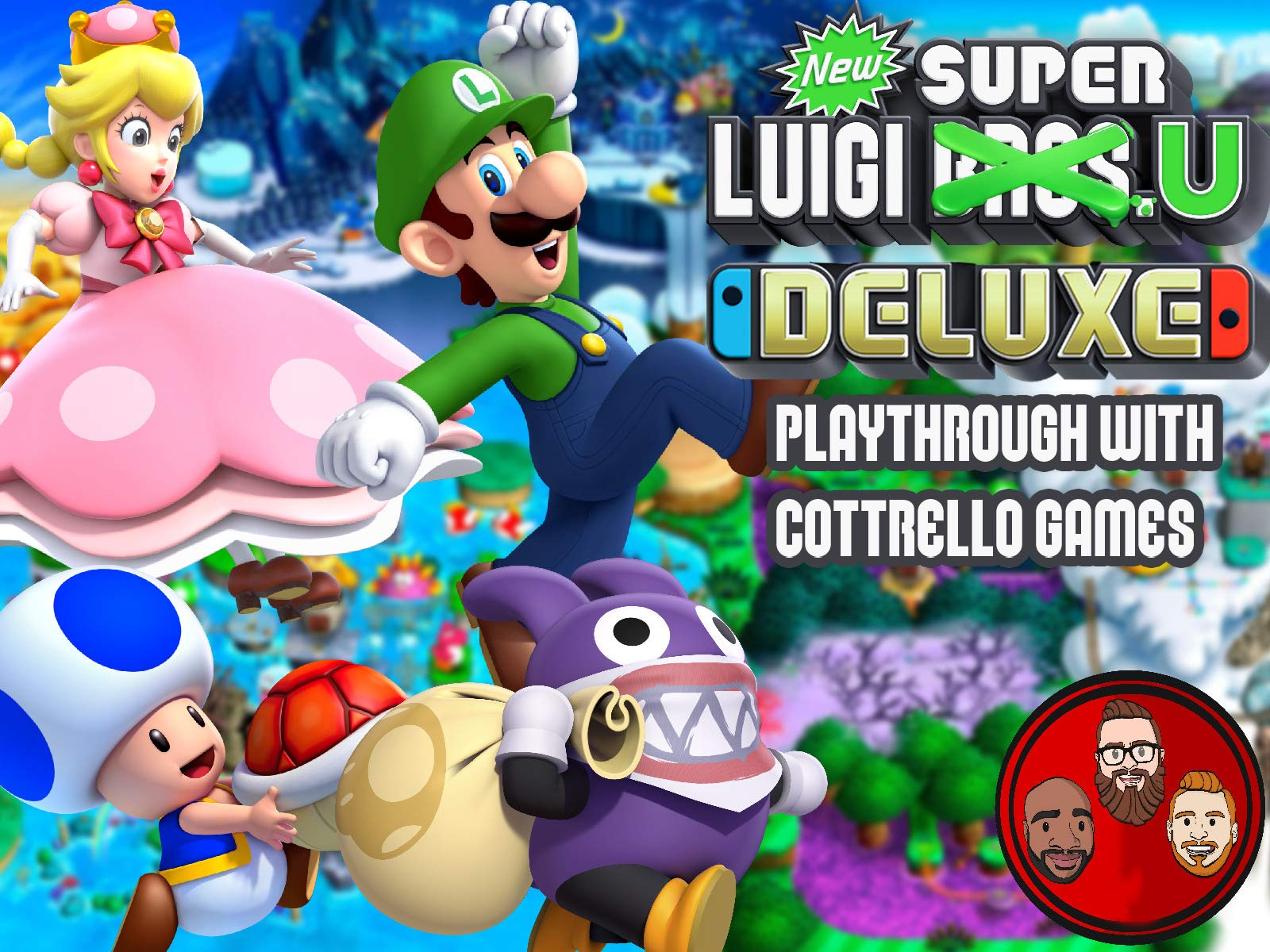 New Super Luigi U Deluxe Playthrough with Cottrello Games