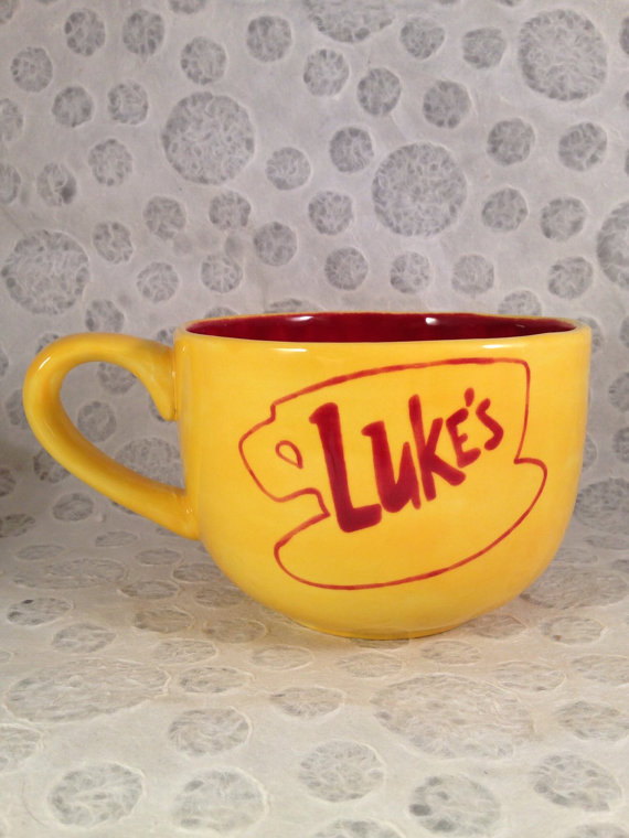 Luke's Diner Mug Gilmore Girls Mug by HandPaintedNerd on Etsy