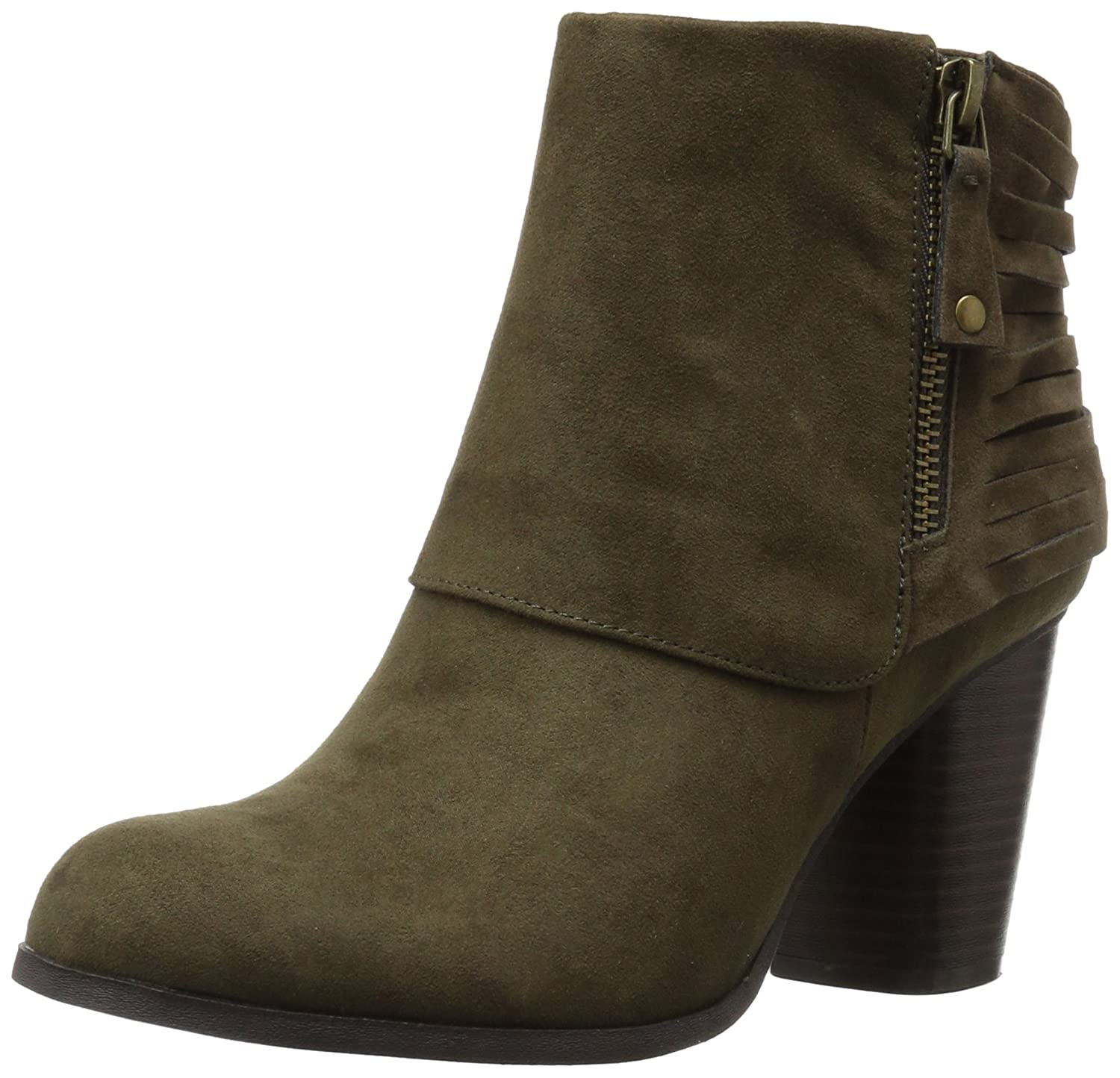 Madden Girl Women's Destory Ankle Bootie B000GDQESI 9.5 B(M) US|Olive Fabric