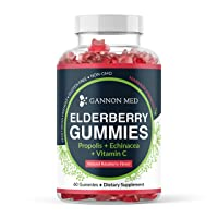 Elderberry Gummies for Kids & Adults Immune Support - Vitamin C Echinacea Propolis & Sambucus Black Elderberry Gummy Vitamins - Organic Nature Booster Non-GMO Gluten Free 2 Month Supply USA - 1 Pack