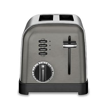 Cuisinart CPT-160BKS Metal Classic Toaster, 2-Slice, Black Stainless