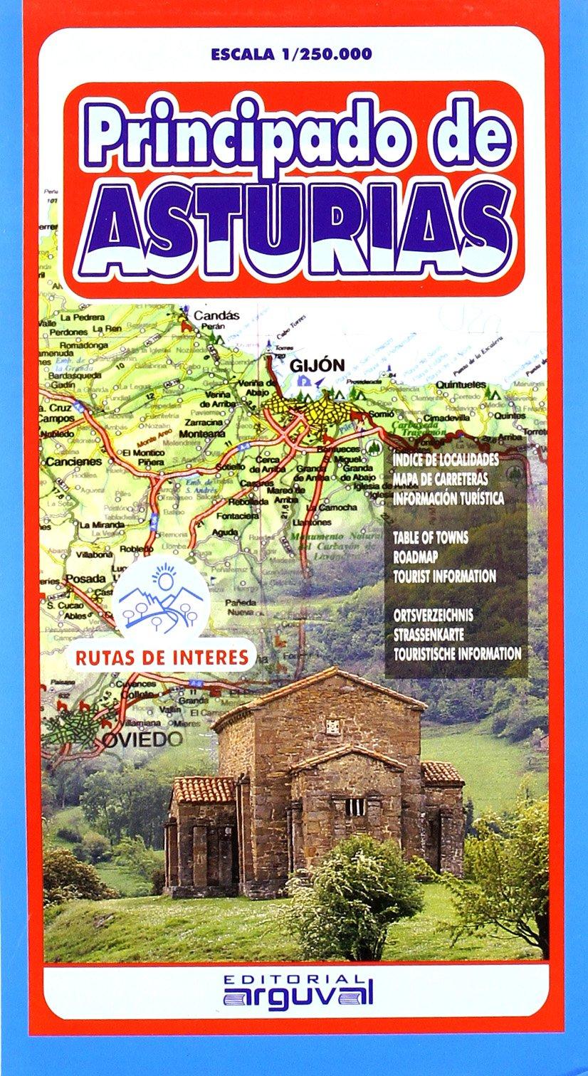 Mapa de Asturias (MAPAS DE CARRETERAS): Amazon.es: Arguval: Libros