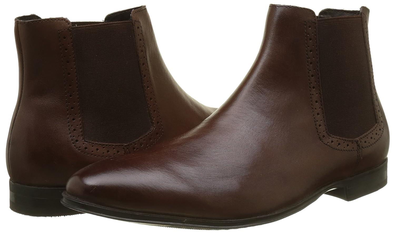 New Look Herren Leather Chelsea 27) Boots Braun (Dark Brown 27) Chelsea 8100b0