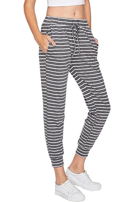 Honestyivan Womens Color Block Stretch Yoga Pants Workout Running Slimmer Yoga Pants Sweatpants