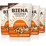 BIENA Chickpea Snacks, Habanero   Gluten Free   Vegan   Dairy Free   Plant-Based Protein (4 Pack)