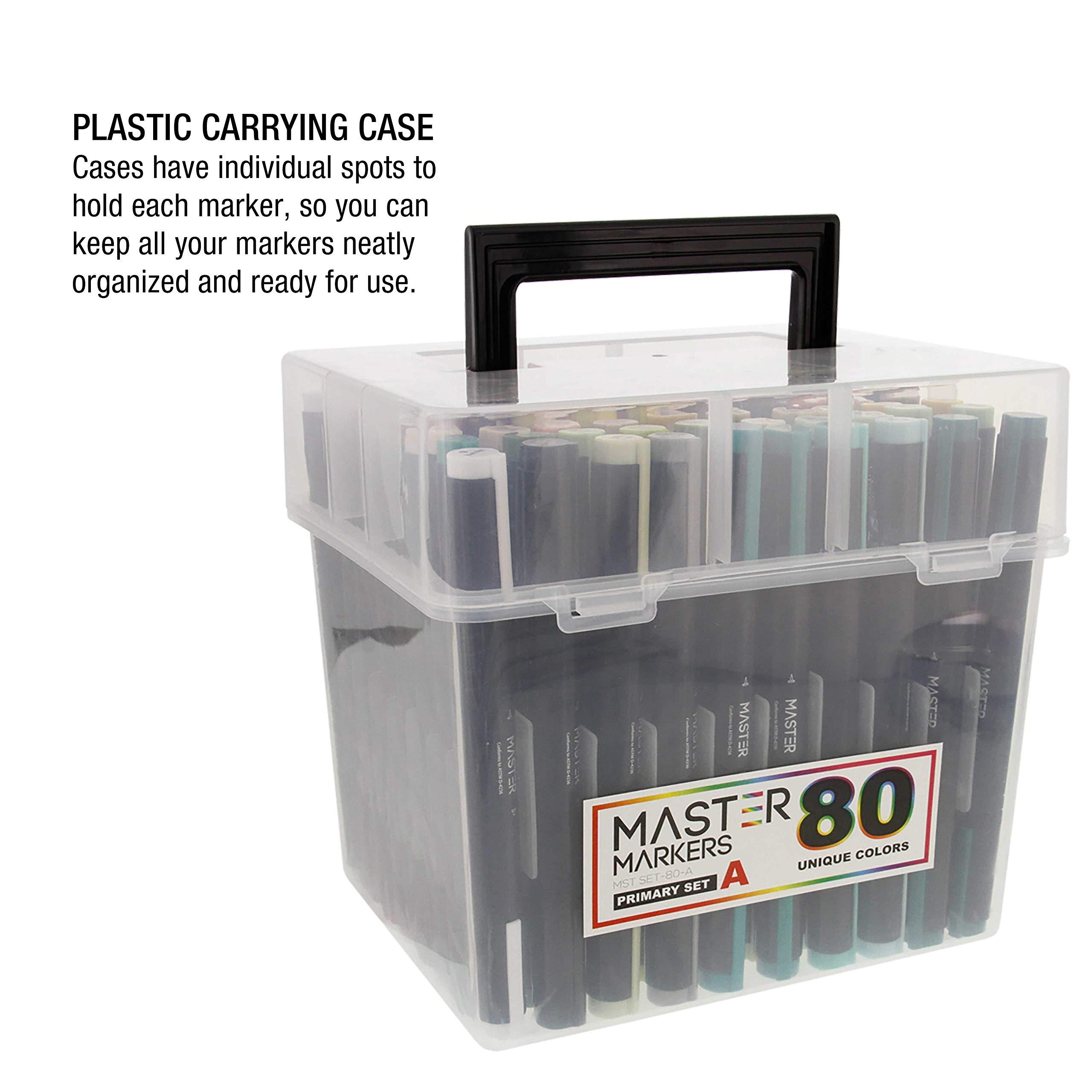 Master Marker 80 Slot  Heavy-Duty Nylon Marker Storage Case with Shoulder Strap