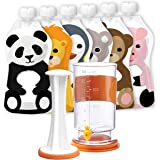 Squooshi Filling Station and reusable pouches (Squooshi Filling Station+ 6 pack)