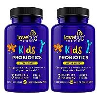 LoveBug Probiotics Kids' Probiotics, Immune and Digestive Health Probiotic, 120 Easy-to-Swallow Pearls