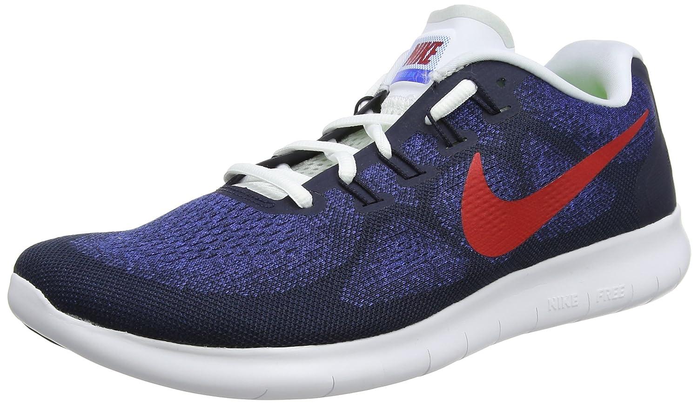 Bleu (Obsidian University rouge Racer bleu Photo bleu noir blanc 406) Nike Free RN 2017, Chaussures de Running Homme 40 EU