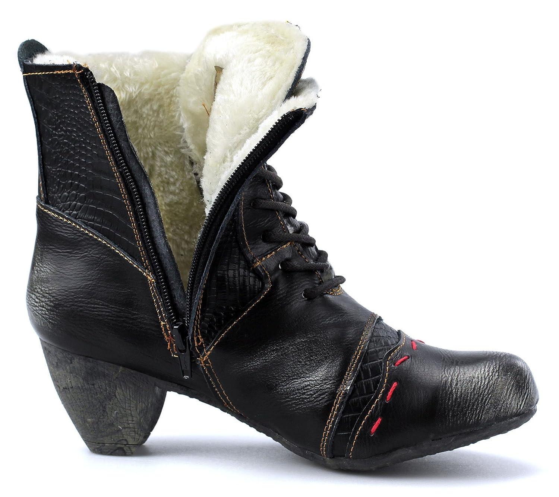 TMA 8133F Damen Winter Stiefeletten Stiefel Gefütterte Freizeitschuhe Stiefel 8133F TMA Schwarz 0178fe