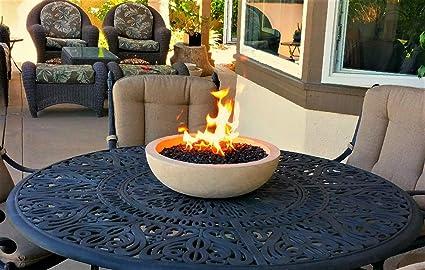 Propane flame table
