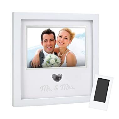 Pearhead 'Mr. & Mrs.' Thumbprint Keepsake Picture Frame With Clean Touch Ink-Pad, The Must Have Wedding Gift