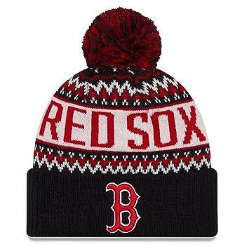 aa7b861b723 ... best boston red sox new era mlb quotwintry pomquot cuffed knit hat  558d8 61a27 ...