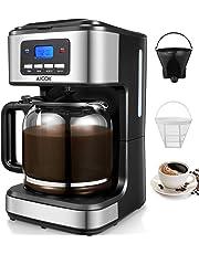 Aicok Cafetera, Cafetera Goteo, Cafetera Goteo Programable, Cafetera Goteo Filtro Permanente, Jarra