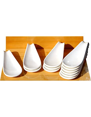 Canape cerámica pantalla cuchara blanco 4,7 x 12 cm x 12