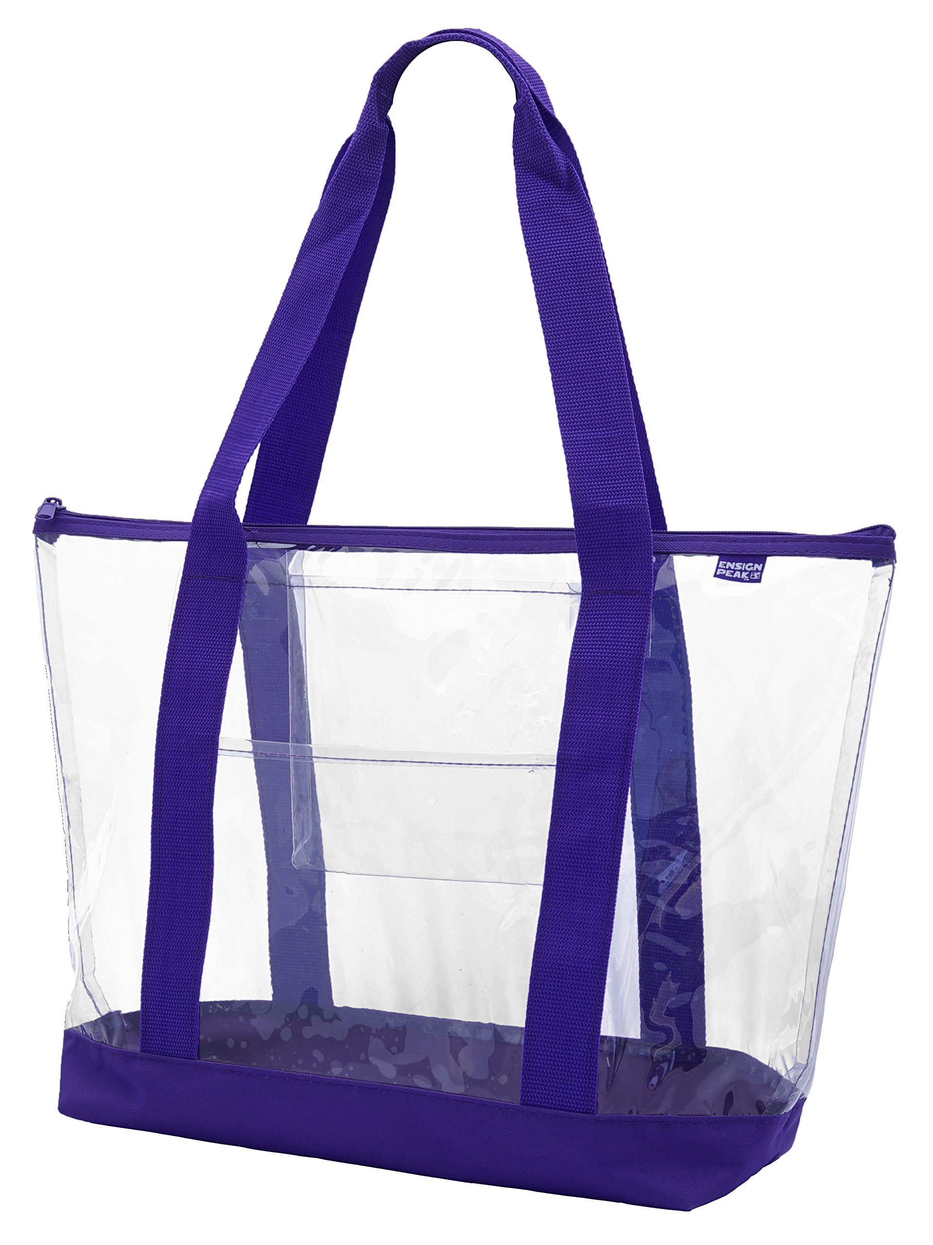 Amazon Com Medium Clear Tote Bag With Interior Pocket And