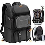 TARION Pro Camera Backpack Large Camera Bag with Laptop Compartment Tripod Holder Waterproof Raincover Outdoor Photography Hi