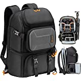 TARION Pro Camera Backpack Large with Laptop Compartment Tripod Holder Waterproof Raincover Outdoor Photography Hiking Travel