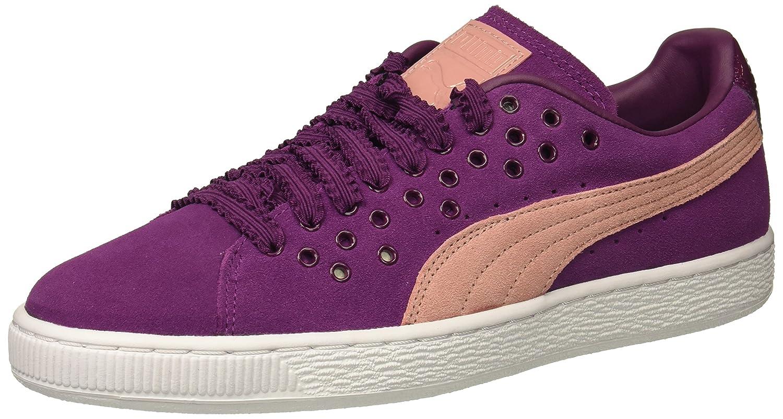 PUMA Women's Suede XL Lace Wn Sneaker B01MZ09NYS 7 M US Dark Purple-cameo Brown