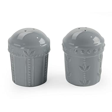 Signature Housewares Sorrento Collection Salt and Pepper Shakers, Light Gray