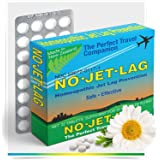 Miers Labs No Jet Lag Homeopathic Remedy + Fatigue Reducer for Airplane Travel Across Time Zones - 32 Count Chewable Tablets