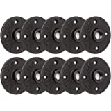 """1/2"""" Floor Flange, Home TZH 10 Pack 4 Bolts Malleable iron Pipe Flange for Industrial vintage style, Flanges with Threaded Ho"""