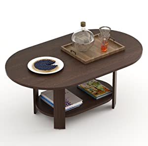 Bluewud Osnale Coffee Table (Wenge, Oval)