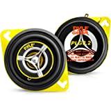 Car Two Way Speaker System - Pro 3.5 Inch 120 Watt 4 Ohm Mid Tweeter Component Audio Sound Speakers For Car Stereo w/ 20 Oz M
