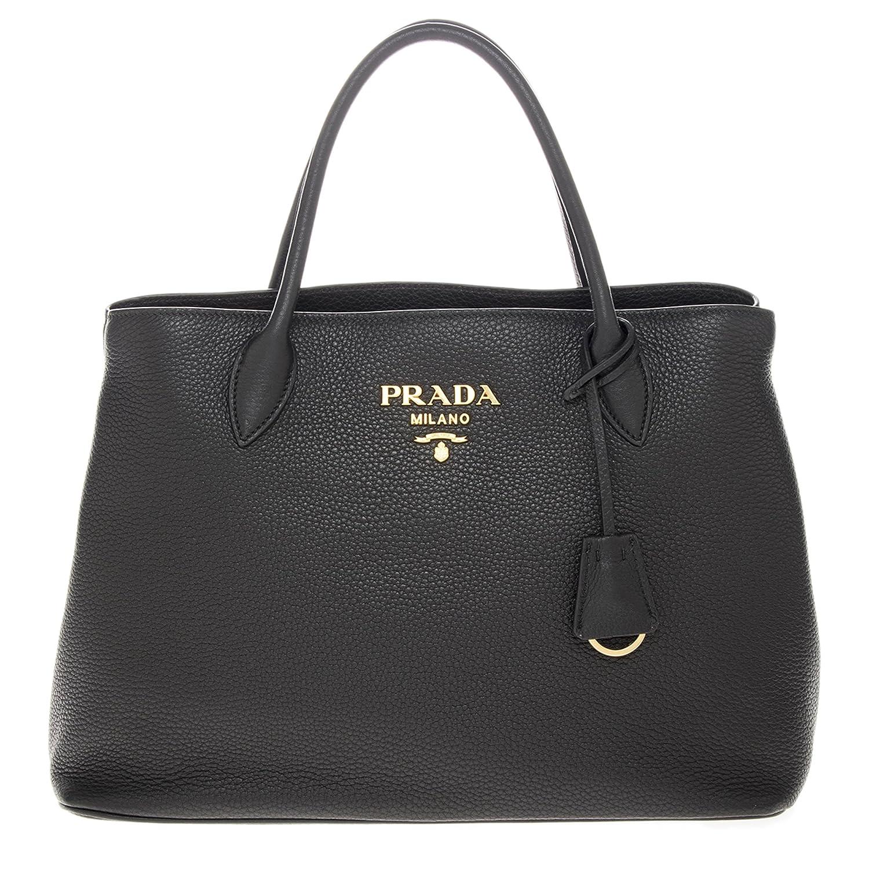 Prada Womenâ€s Grained Leather Tote Black