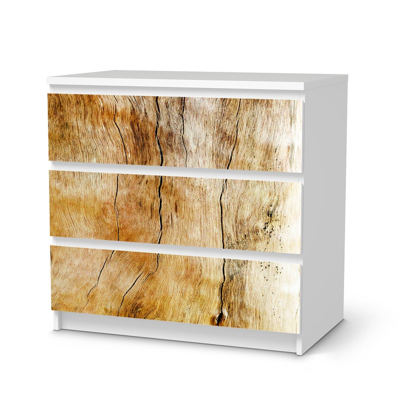 Möbel-Aufkleber IKEA Malm 6 Schubladen (breit) Design Sticker Wooden Wohnungs-Dekoration B018SS5Q8G Mbelsticker