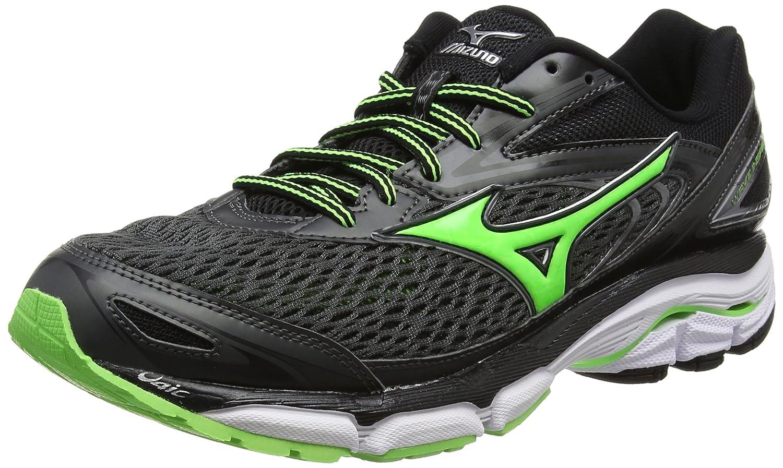 Mizuno Wave Inspire 13, Zapatillas de Running para Hombre 41 EU Negro (Dark Shadow/Green Gecko/Black)