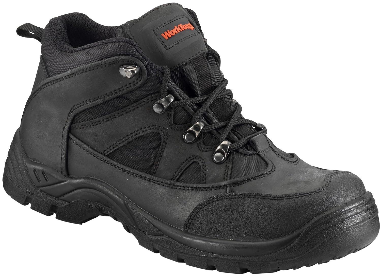 WorkTough 73SM11 Wanderschuh Sicherheitsschuh, knöchelhoch, Größe 45, Schwarz Schwarz Schwarz 12ac60