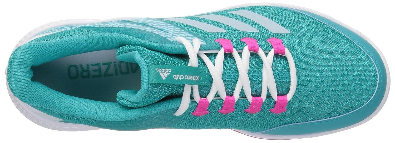 adidas Women's Adizero Club 2 Tennis Shoe B077X4Y792 5 B(M) US|Hi-res Aqua/White/Shock Pink