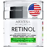 Anti Aging Retinol Moisturizer Cream for Face, Neck & Décolleté - Made in USA - Wrinkle Cream for Women and Men with Hyaluron
