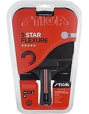 Stiga 5-Star Flexure, Concave Racchetta da Ping Pong, Nero/Rosso, Taglia Unica