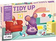 Chalk and Chuckles Tidy Up - Preschooler, Sorting and Organising Activity Game for Kids 4 to 6 Years Old, Learn Cooperative