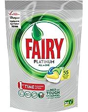 Fairy Platinum All In One Dishwasher Tablets Lemon 55 Pack