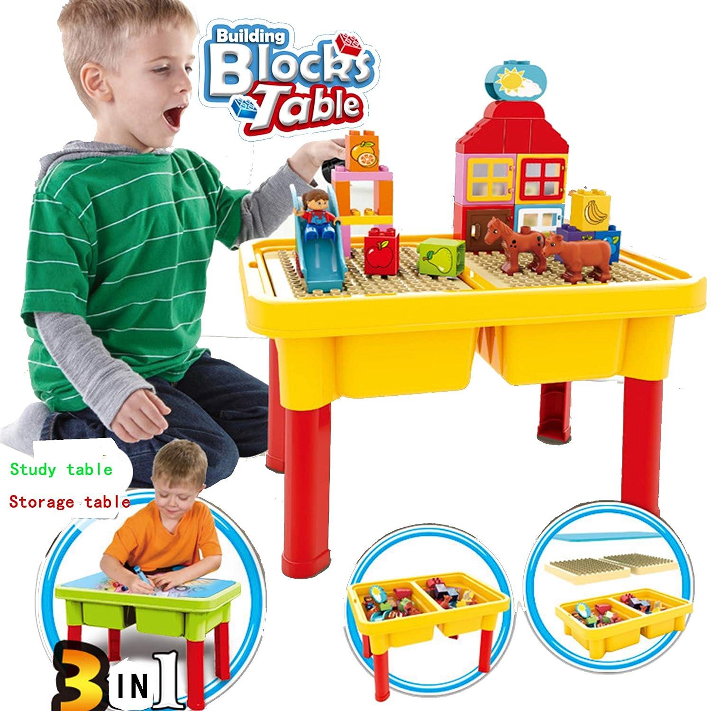 SEIGNEER Kinder Tisch Kindermbel Kindertisch Kinder Spieltisch Kinderarbeitstisch Und 40 133 Pieces Bricks