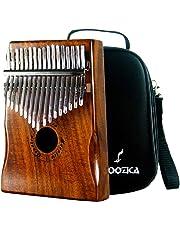 Moozica Koa Tone Wood 17 Keys Kalimba Marimba, High Quality Professional Finger Thumb Piano Musical Instrument Gift with Professional Kalimba Bag