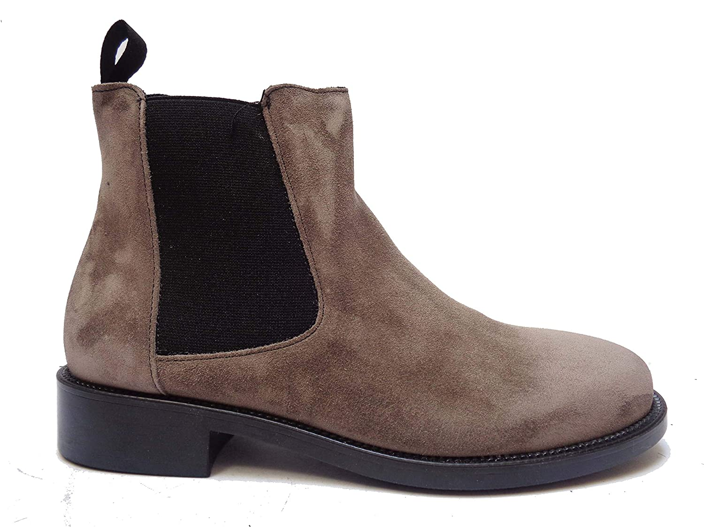 Frau 98B3 nerz beige Schuhe Stiefeletten Trunks Beatles Wildleder