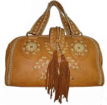 Large Nicole Lee U.S.A. Womens Satchel Style Tote Handbag, Tassel, ...