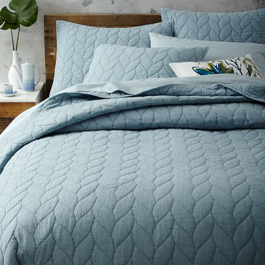 Braided Quilt + Shams | west elm