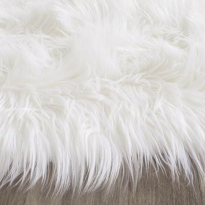 Pinkday Faux Silky Sheepskin Area Shag Rug Faux Fur Shag Runner 30 by 48 Inch