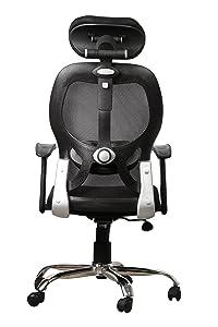 SEAT CHACHA Matrix High Back Chair ( Black Mesh And Crome Base )