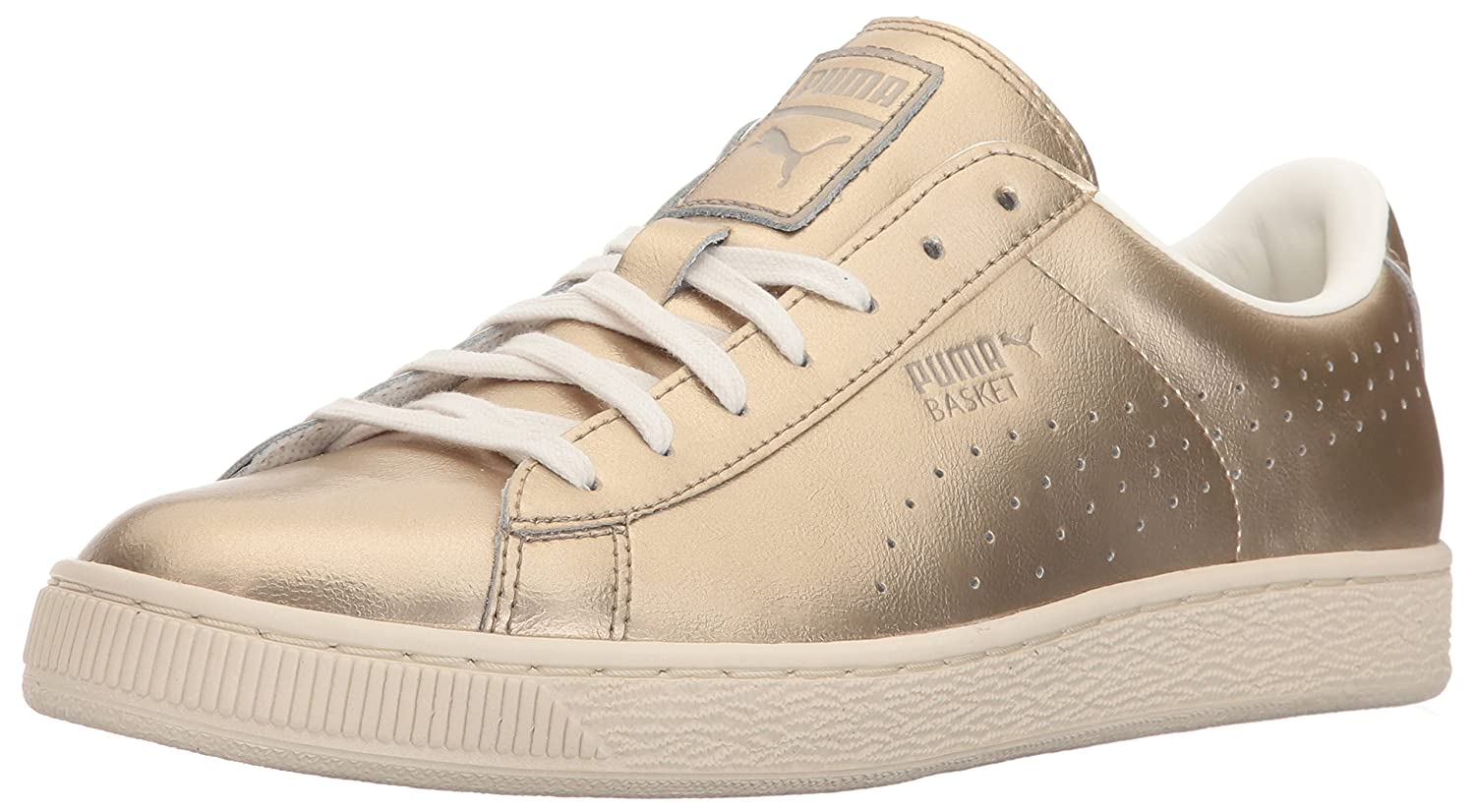 PUMA Women's Basket Classic Citi Metallic WN's Fashion Sneaker B01J152GVA 5.5 M US|Silver Gold-whisper