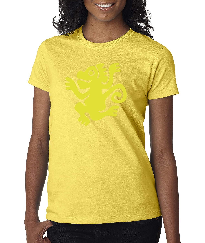 Daisy Yellow Trendy USA 814  Women's TShirt Legends Hidden Temple LOTHT [Green Monkeys]