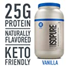 Isopure Naturally Flavored, Keto Friendly Protein Powder, 100% Whey Protein Isolate, Flavor: Natural Vanilla, 3 Pound (Packaging May Vary)
