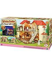 SYLVANIAN FAMILIES City House with Lights Casa de Mini Muñecas y Accesorios, 65.0 x 34.8 x 20.6 Epoch para Imaginar 2750
