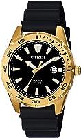 Citizen Men's Stainless Steel Japanese-Quartz Polyurethane Strap, Black, 22 Casual Watch (Model: BI1043-01E)