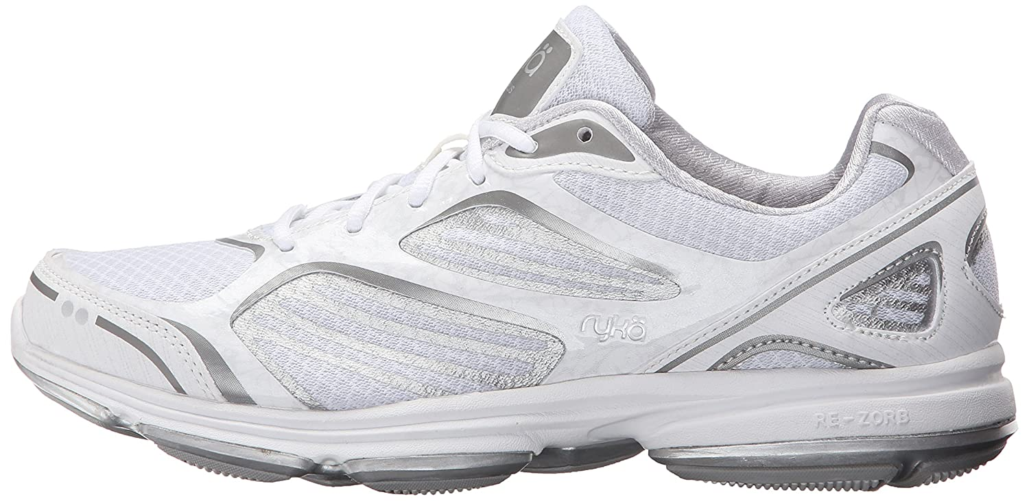 Ryka Women's Devotion 8.5 Plus Walking Shoe B01284BX60 8.5 Devotion B(M) US|White/Chrome Silver/Frosted Almond b62ce1